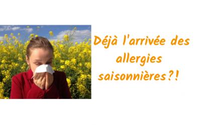 Les allergies saisonnières sont de retour !